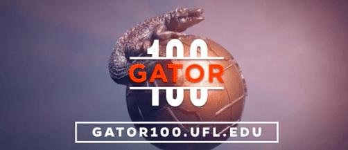 Gator 100 Graphic Globe logo